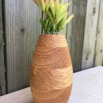 White oak laminated vase