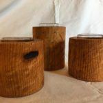 Reclaimed pine votives