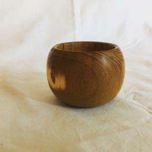 Osage orange salt bowl
