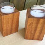 Spanish cedar candle votives