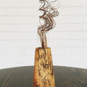 Red oak burl vase